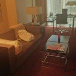 living area of prestige suite