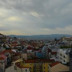 view of Lisbon from roof terrace