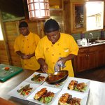Zimbali Chefs plating a delectible lunch.