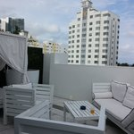 Collins Avenue terrace of Signature Grande Room 401