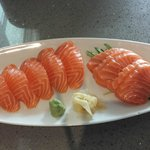 salmon sashimi and nirgiri