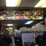 Menu options/ front cashier station.