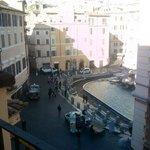 Vista da Fontana de Trevi
