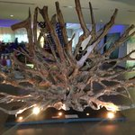 Beautiful tree decoration at the lobby.