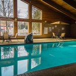 Indoor pool, whirlpool and sauna