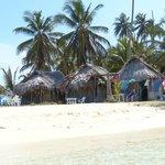 die 3 schönen Cabanas in 1. Reihe