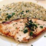 Pesce spada con risotto al prezzemolo