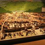 Model of Rye town in olden days