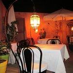 Kvällsbild från restaurang / terass-delen