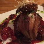 Duck breast with grilled fruits