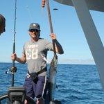 io e iacopo a pesca