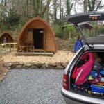 Just arrived - you can park right next to the pod