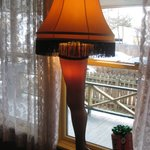Leg lamp in the front window