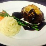 Filet Mignon with toasted goat cheese