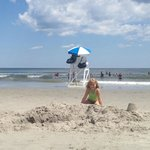 A step to the Beautiful Wildwood Crest Beach