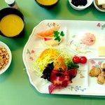 Delicious breakfast at Akakura Akarien