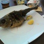 Pescado frito en el menú Mmmmm rico!!
