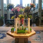 Very nice flower display at lobby