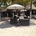 Comfortable seating on the beach