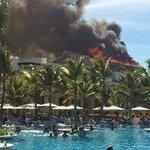 Incendio del restaurante principal ayer 16 de abril de 2014 a las 4 pm, no hubo heridos, oportun