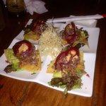 Spicy tuna taquitos