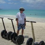 Segway on the beach