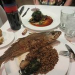 Whole trout and filet mignon! Delicious!!