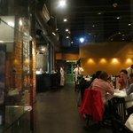 Inside the restaurant. One of the 3 floors. Open kitchen!