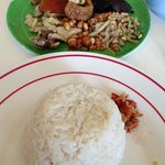 delicious plate of babi guling