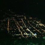 Excelente vista nocturna desde la ciudad de baños desde el mirador LUna RUntum a 2300msnm