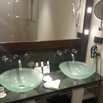 Shower area with 2 basins