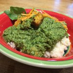 Saag Tofu over rice! Hot lunch Friday!