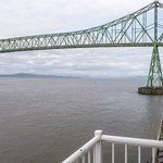 View of Astoria-Megler Bridge from balcony near living room from Pilot House