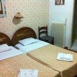 Single room; twin beds.