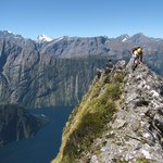 Climbing Mitre Peak in Milford Sound