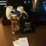 They provide a cafetiere in the rooms. Great for coffee lovers like me :)