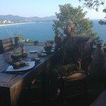 Вид из ресторана (на фоне виднеющегося вдалеке пляжа Карон)