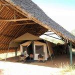 Eines der Zelte
