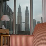 Patronas Towers from the bed