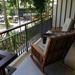 Balcony swimming pool view.