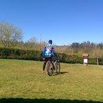Saliendo del camping para una ruta en bici