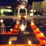Mewar Terrace- All Decked Up & Traditionally Lit (Sitar player in the backdrop)
