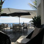 Beach restaurant in the morning