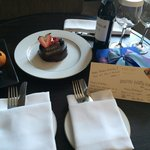 A beautiful birthday surprise from the guest relations staff - look at the handmade card - so go