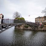 Bridge across the lake to Walton Hall ..