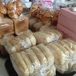 lots of homemade bread