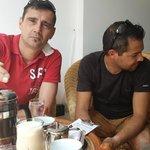 jp & pablu tasting coffee