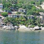 hotel gezien van op zee