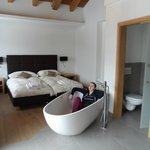 Master bedroom with lovely deep bath