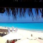 Vue du bar de la plage